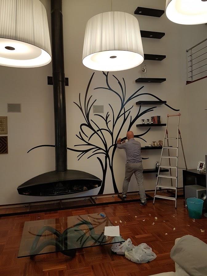 albero in casa